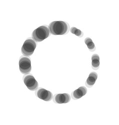 Circular loading sign  gray icon shaked at vector