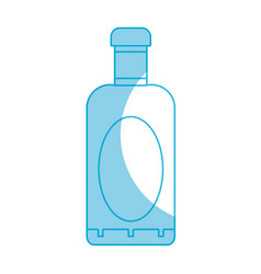 Silhouette wine bottle liquor to special vector
