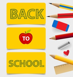 Welcome back to school cute note papers vector