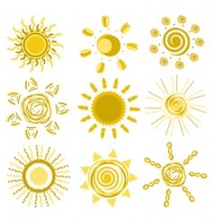 sun designs vector image