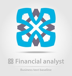 Financial analyst business icon vector