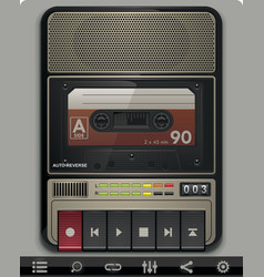 Cassette recorder template vector