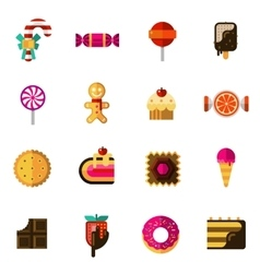 Sweets icons set vector