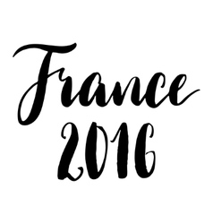 France 2016 black and white print vector