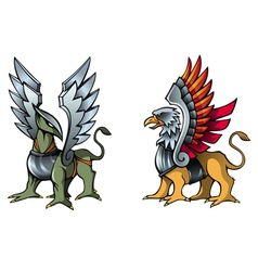 Fairy griffins vector