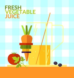 Fresh vegetable juice for design website infogr vector