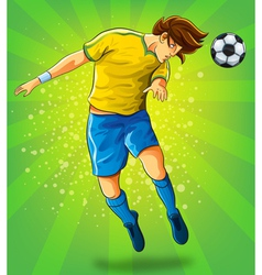 Soccer player head shooting a ball vector