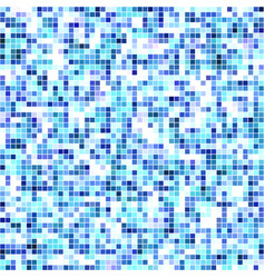 abstract texture of blue mosaic inlay vector image vector image