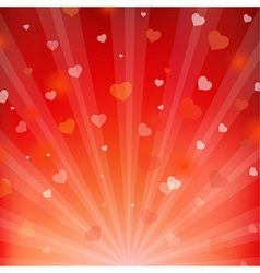 Backgrounds with beams and hearts vector