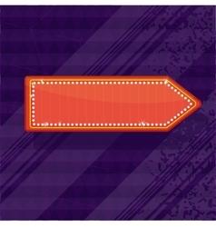 bright neon pointer vector image