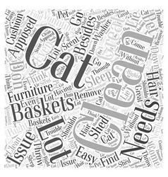 Cat baskets word cloud concept vector
