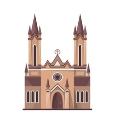 Catholic church icon isolated on white background vector image vector image