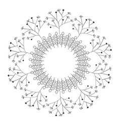 Circular crown with leaves vector