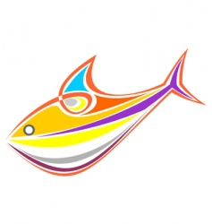 colored aquarium fish vector image