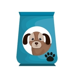Dog bag food mascot vector
