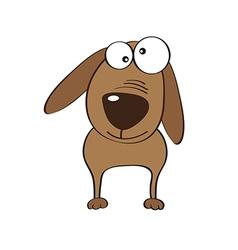 doodle dog cartoon vector image