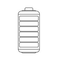 Figure battery exhausted icon vector