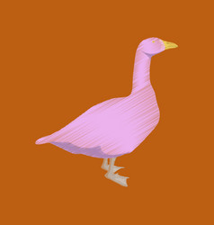 flat shading style icon goose vector image