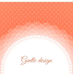 Frame with beads vector image