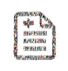 Group people shape questionnaire vector