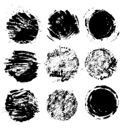 grunge figures 3 380 vector image vector image