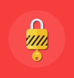 Identity or logon icon padlock with a key in a vector