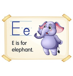 Letter e vector