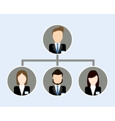 Organization chart icon business design vector