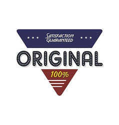 original quality badge vector image vector image