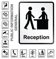 Public information signs vector