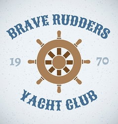 Rudder retro design icon vector image