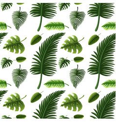 Seamless design with many green leaves vector
