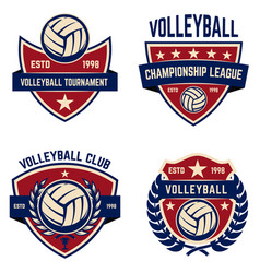 set of volleyball champions league emblems design vector image vector image