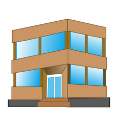 small gray building vector image vector image