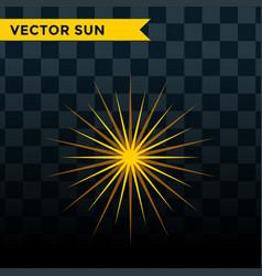 Sun burst star icon summer vector