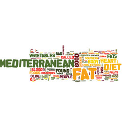 The mediterranean diet what is it text background vector