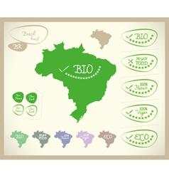 Bio Map BR Brasil vector image