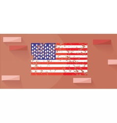 Patriot day with american flag vector
