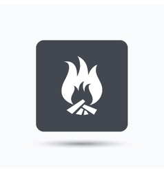 Fire icon blazing bonfire flame sign vector