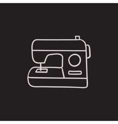 Sewing-machine sketch icon vector