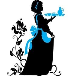 Housemaid silhouette vector
