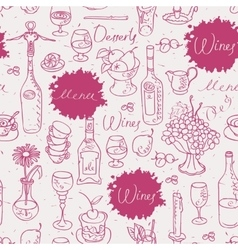 seamless texture on wine vector image