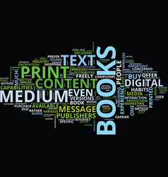 The medium and the message text background word vector