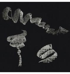 Set of chalk strokes vector