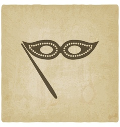 Masquerade mask symbol old background vector
