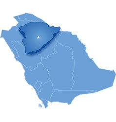 Map of saudi arabia the region hail vector
