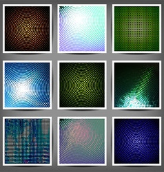 Big set of color technical backgrounds vector image