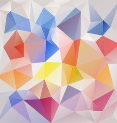 Color full abstract polygon triangular pattern vector