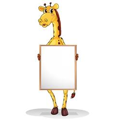 A giraffe vector image vector image