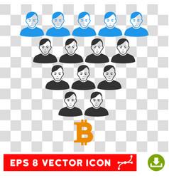 Bitcoin ponzi pyramid eps icon vector